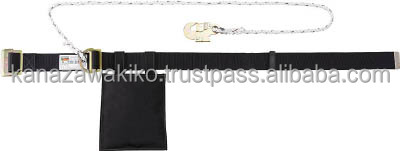 TRUSCO Industrial Safety Belt with Rope Lanyard GTS53BK
