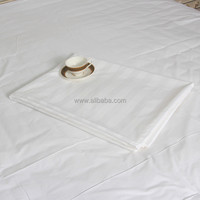 WEISDIN best selling items white woven 3cm stripe white color bedsheets