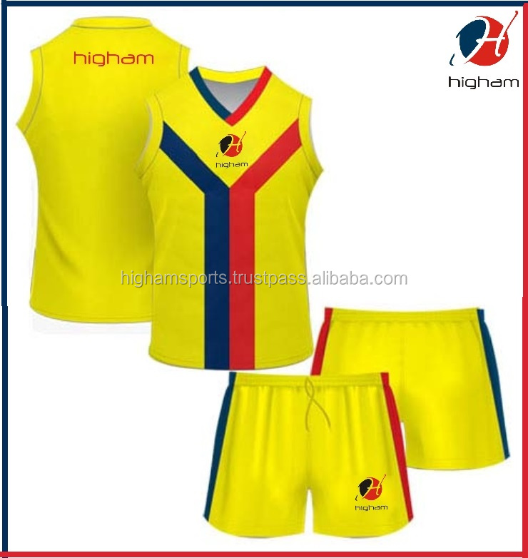 Digitally Sublimated OEM Digital Print Australian Rules Football 95% Polyester 5% Spandex Uniform