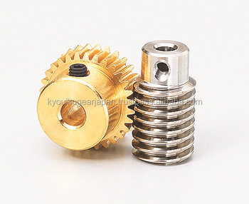 Miniature worm gear pair Module 0.8 Ratio 20 R1 Made in Japan KG STOCK GEARS
