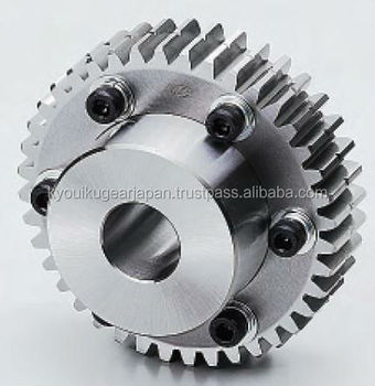 Control backlash ground spur gears Module 2.0 Chromium molybdenum steel Made in Japan KG STOCK GEARS