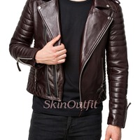 Black Custom Motorcycle Leather Jackets For