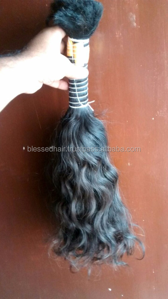 Unprocessed Wavy Indian Hair