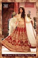 jacqueline Fernandez in red bridal lehenga on ramp