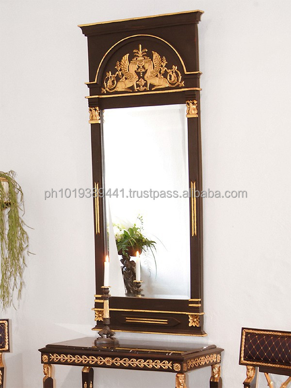 Late - Gustavian carved floor mirror