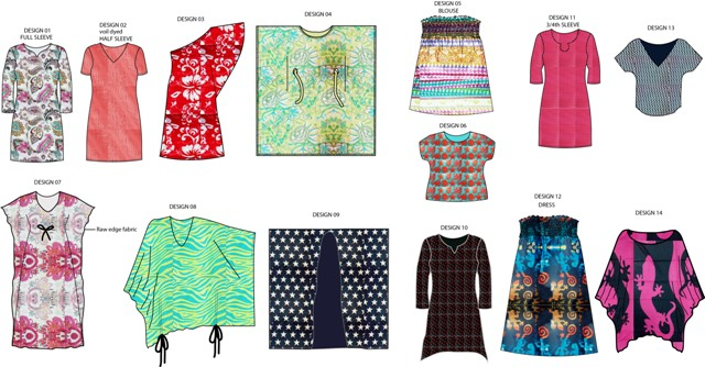Cotton voil printed promotions blouses