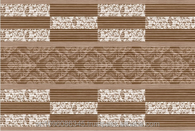 CERAMIC TILE WITH WOODEN MOSAIC STYLE - C077