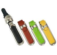 Slide In PU Leather USB Flash Drive