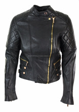 Autumn Winter Wholesale Women Party Wear Latest Design Leather Jacket