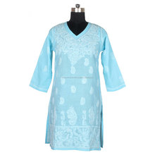 DRL 024 Kurti Designs For Stitched Fancy Long Kurti Lakhnavi Chicken Embroidery United Kingdom Peoples Like Kurti