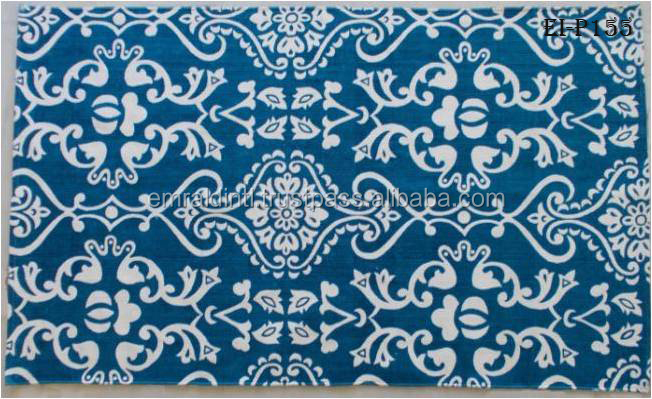 BEAUTIFUL BLUE DESIGNER COTTON PRINTED RUGS