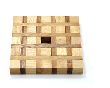 Perplexing Squares-Classic Wooden Games and Toys,Interlocking Puzzles,Brain Teasers-Crafted jigsaws