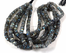smooth tyre 6-8 mm blue fire labradorite beads