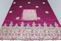 Indian George with blouse Heavy Beaded George Wrapper Fabric