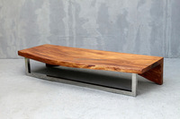Amsterdam center table 3, 1 piece solid acacia wood