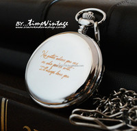Personalized Laser Engraving Pocket Watch Gift for any special occasion