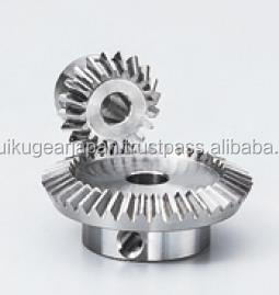 Straight bevel gear Module 0.5 Ratio 2 Carbon steel Made in Japan KG STOCK GEARS