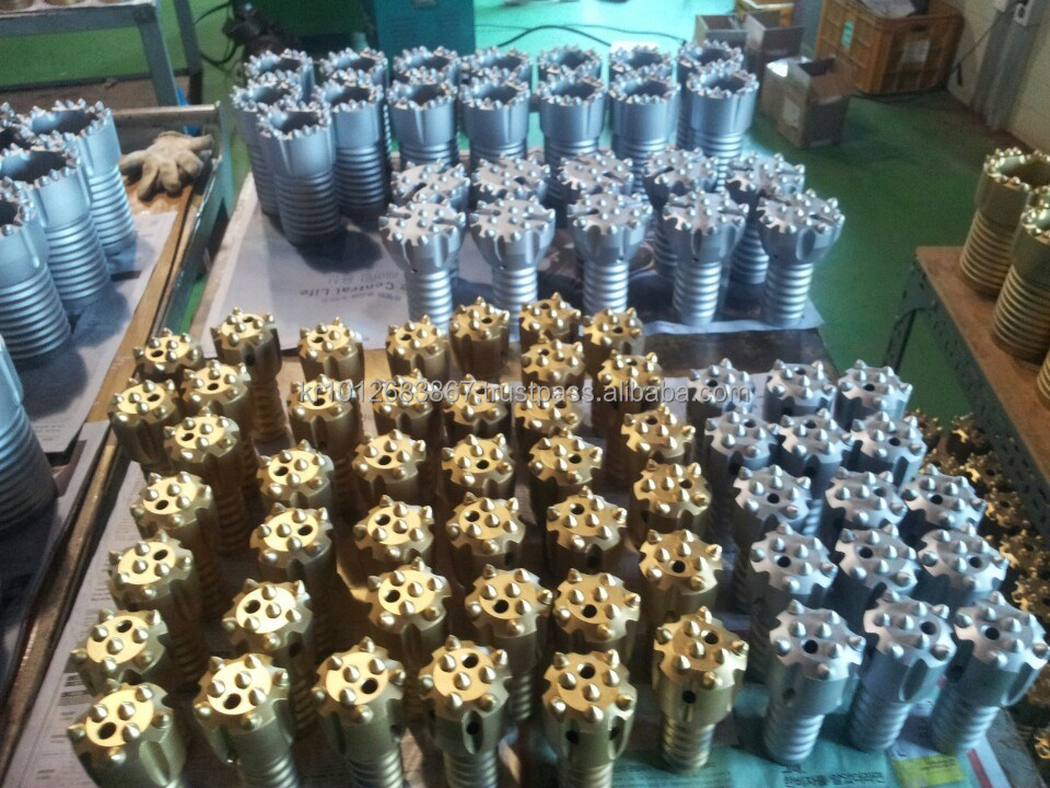 Thread button rock drill bits, Retract rock drill tools, Button bits.