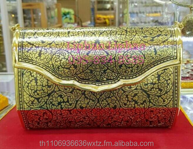 Crafts gold nielloware beautiful handbags 100% handmade with gold from Thailand