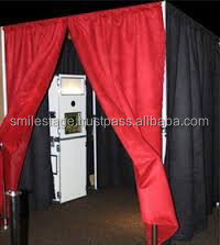 Aluminum backdrop stand pipe drape for touch screen photo booth