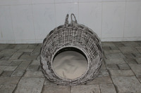 poly wicker Pet basket/ Dog basket bed/ Cat bed with cushion inside, 2015 new product - CH2591
