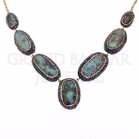 Turquoise Necklaces Wholesale Necklace Silver Druzy Jewelry From Istanbul