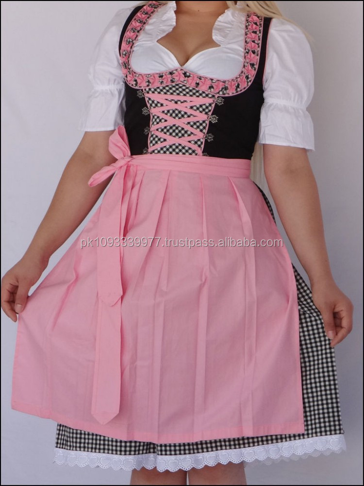 Mouse over image to zoom NEW!!German,Trachten,Oktoberfest,Dirndl Dress,3-pc.Sz 10.Pink,Black,White