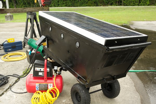 Solar Powered Generator and Water Pump System