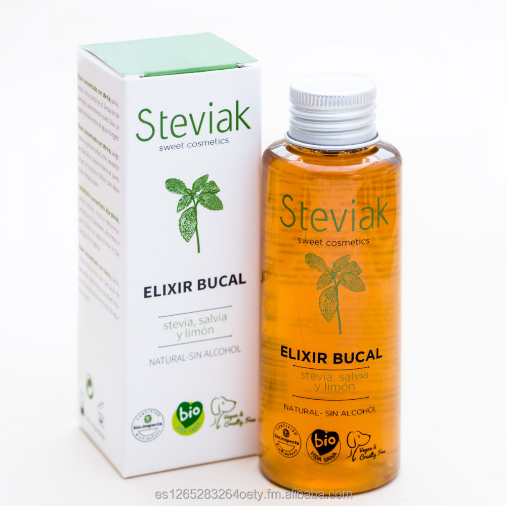 Mouthwash elixir with stevia