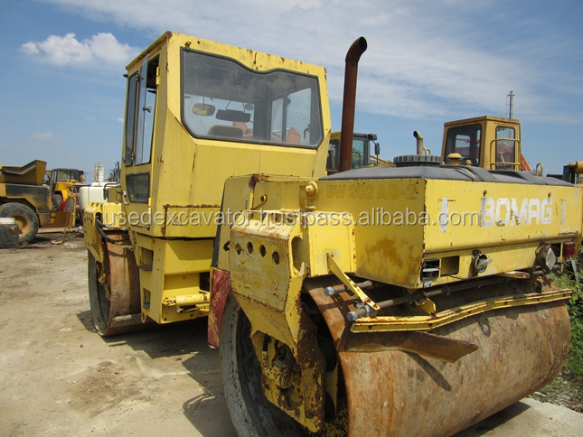 Bomag BW202AD-2 Double Drum Vibratory Road Roller,Bomag Road Roller Germany Original,used 10 Ton Road Roller 75hp