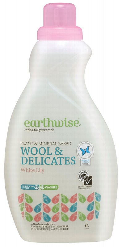 EARTHWISE Wool & Delicates Wash (3X Conc.) White Lily 1L