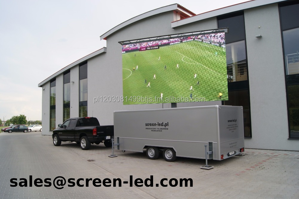 MobiLED mobile LED screen trailer | LED videowand | wand | anhanger | LED wall | display