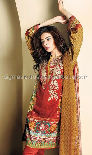 WOMEN EMBROIDERED DESIGNER LINEN FANCY SUITS