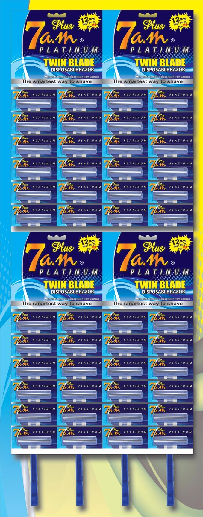 7AM PLUS TWIN BLADE DISPOSABLE RAZOR