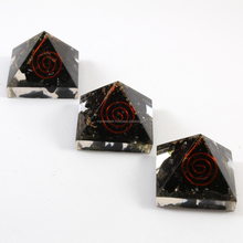 Black Tourmaline Orgone Baby Pyramid With SBB Coil