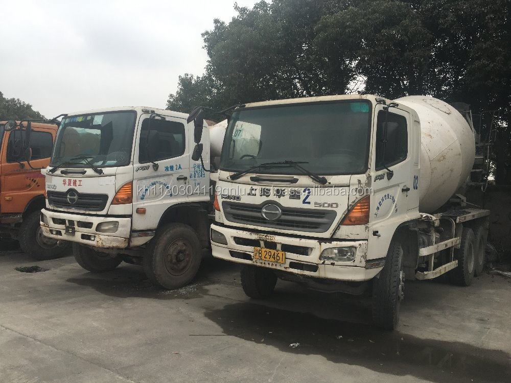 second hand hino concrete mixer truck original japan for sale