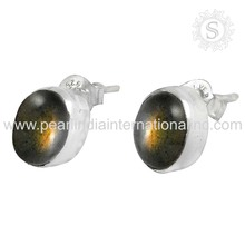 Glittering Flash Labradorite Earring 925 Sterling Solid Silver Jewelry Wholesale Jewelry Price Per Gram