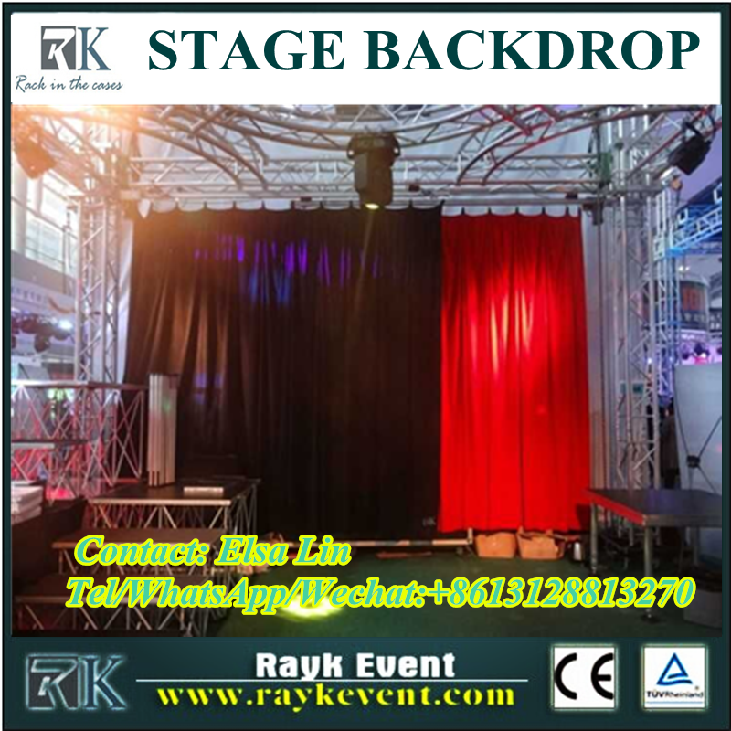 Elegant pipe and drape/portable pipe and drape/fleece fabric stage decoration backdrop fabric