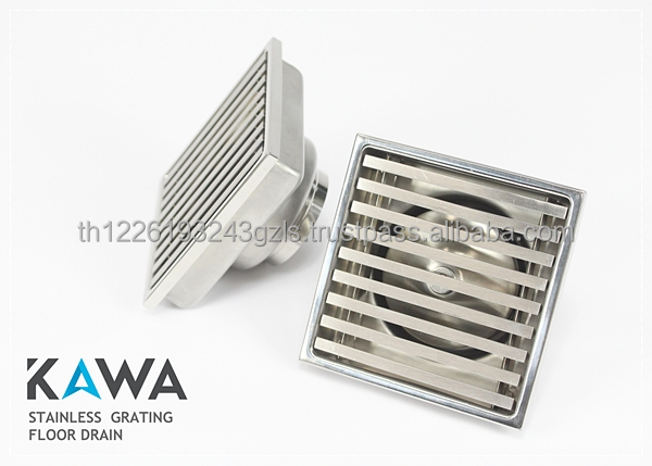 Stainless Grating Square Floor Drain Grade 304