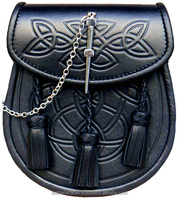 Superior Cowhide Leather Embossed Celtic Design including belt strap