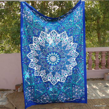 Indian Hippie Wall Hanging Star Mandala Designer Tapestry