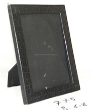 MDF based black marble pattern rexine pasted Picture Photo Frame - 12174