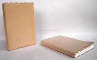 Indian genuine natural finish vintage deck ledge leather & handmade paper leather notebook