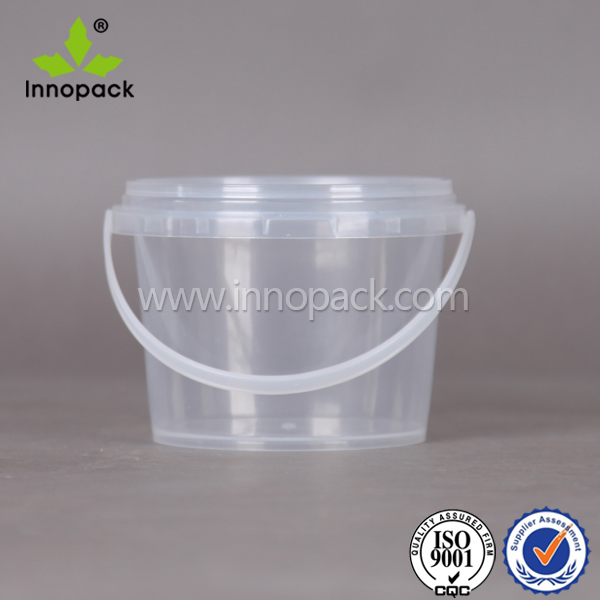 clear food grade packing plastic container with lid for honey wholesale