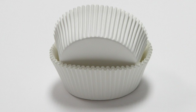 BAKING CUPS - WHITE, LARGE 50C