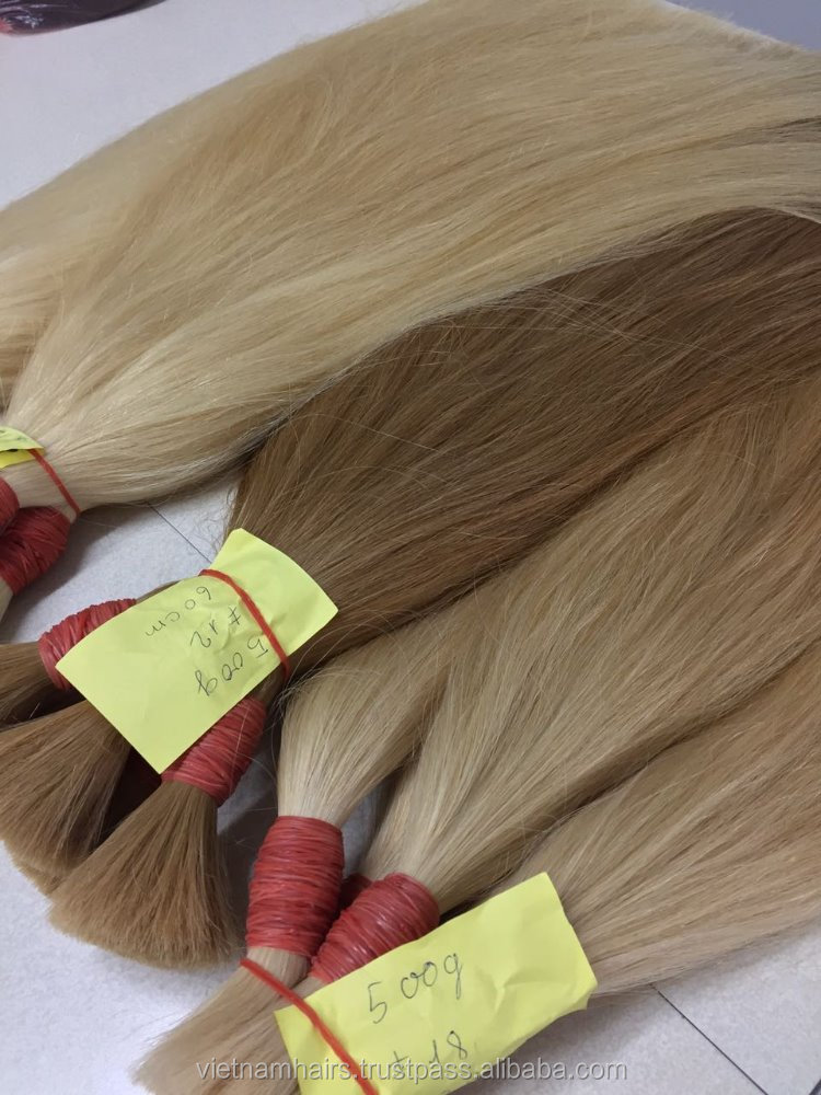 [TOP] No chemical 100% vietnamese virgin remy Double drawn straight hair, color #2 - #613 Aliexpres fast shipping