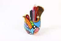 Pen Holder in Colourful Bird Shape for Office/Work Desk; Unique Corporate Gift Idea