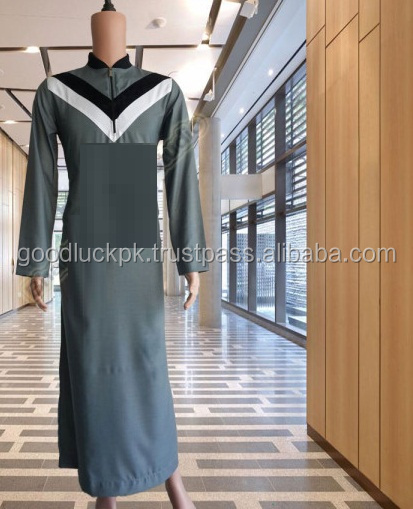 wholesale thobe - 2017 Autumn Winter Muslim Black Abaya/ Turkish Jilbabs/ Thobe/ Islamic Dubai Arabe