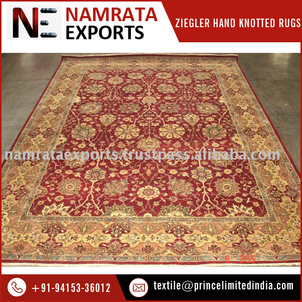 2017 New Design Hand Knotted Ziegler Wool Rugs for Sale