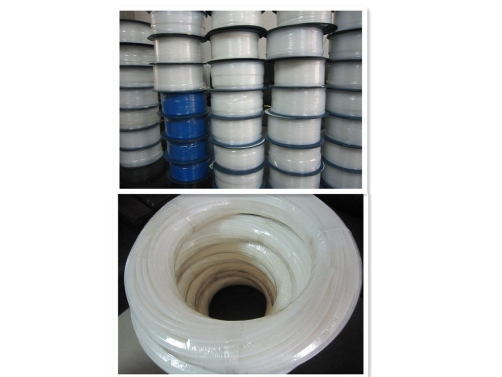 Fluoroplastic Clear PTFE Hose in ID 8mm OD 10mm Extruded PTFE Tubing